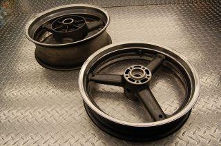 1995 Suzuki GSXR 750 Front rear wheels wheel rim rims polished back oe