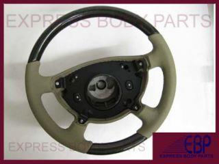 Mercedes Steering Wheel W211 E320 E500 Tan Beige Cream Birdseye Wood E