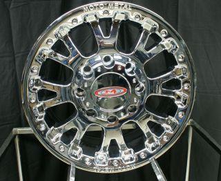17 x8 Moto Metal MO956 Chrome 5 6 7 8 Lug Wheels Rims Free Lugs