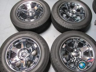 RAM 1500 Factory 20 Chrome Clad Wheels Tires Rims 2387 Durango