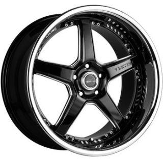 Drift Machined Black Staggered Wheels for BMW E90 328 335 Sedan