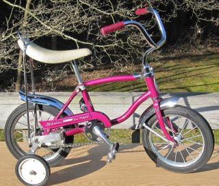 VTG antique original 1970 Schwinn Lil Tiger 12 Stingray violet bicycle