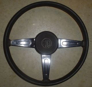 MG Steering Wheel with Horn Button Rat Rod Hot Rod Custom