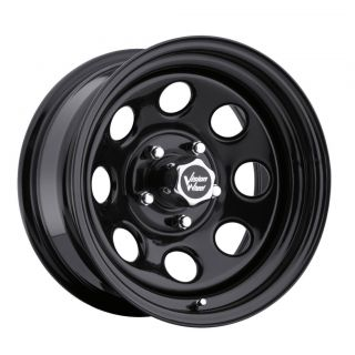 15 in Vision Soft 8 Black Wheels Rims 5x4 5 5x114 3 6