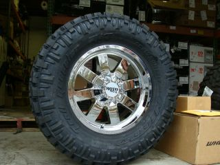 18 Moto Metal 962 Chrome wheels 18x9 285 65R18 Nitto Trail Grappler 33