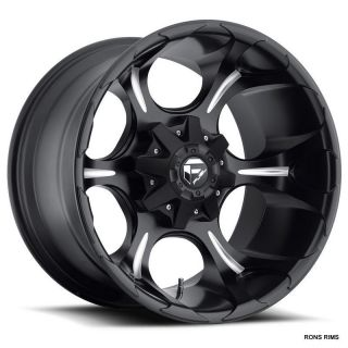 FUEL DUNE 20X10 5 ON 5 MATTE BLACK MILLED NEW JEEP WRANGLER DODGE RAM