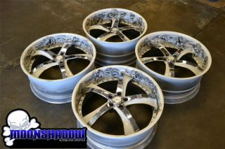 SAVINI sv29s CUSTOM AIRBRUSHED STAGGERED WHEELS RIMS MERCEDES S CLASS