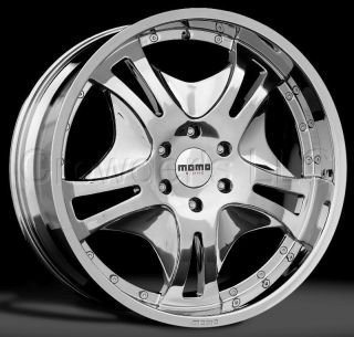 Momo SUV Truck Wheel Rim K1 Chrome 22 inch 5 Lug
