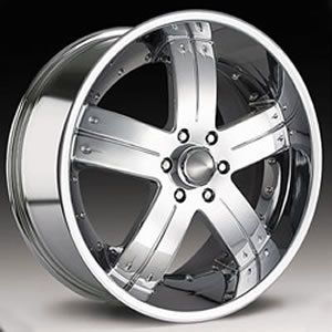 22x9 5 Dirt Nap 6x135 Chrome One Single Replacement Wheel Rim