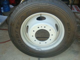 70R19 5 RV motorhome Radial Truck Tires on Ford 10 Lug Rim New