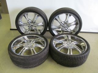 26 Chrome Wheels Tires 6 Lug 26X9J 305 30R26 Wheels Tires