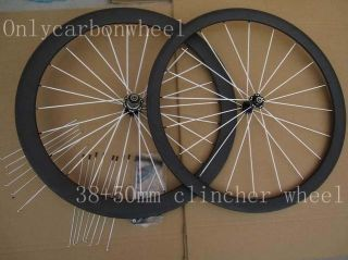 Carbon Clincher Wheels Front 38mm Rear 50mm Bicycle clincher Wheels