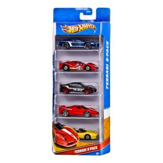 Hot Wheels Ferrari 5 Pack 512M P4 308 GTS FXX F430 NIP