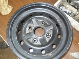 Foreman Rincon Rancher Yamaha Black Steel Rim Wheel Front 12x6