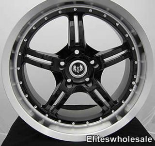18x8 5 Black Wheels Rims Stern ST5 5x120 BMW New