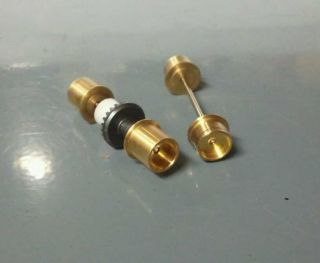 Custom made Brass wheels for Tyco 440 Wide Chassis HO slot car Stock