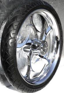 21 Front Chrome Wheel Rim w Tire Harley Davidson FLH Touring Bagger