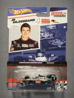 HOT WHEELS REAL RIDERS IZOD INDY CAR SERIES JR HILDEBRAND #4 DIECAST