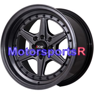 16 16x8 XXR 501 Chromium Black Rims Wheels Deep Dish Stance 01 Acura