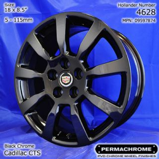 Single Cadillac cts Sedan 18 Black Chrome Rim Outright