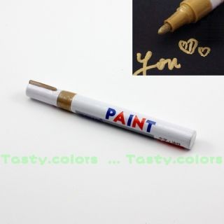 Gold Cool Racing Car Van Motorcycle Tire Tyre Pen DIY Tread Paint