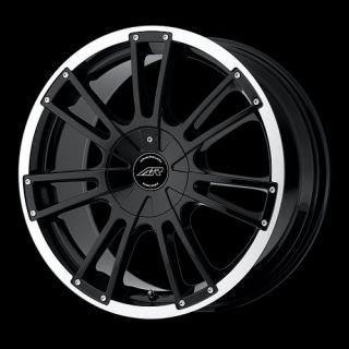 16 inch Black Wheels Rims 4 Lug Aveo Civic Fit Sentra