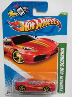 Hot Wheels 2012 Treasure Hunt Ferrari 430 Scuderia Reg