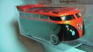 Hot Wheels Garage VW T1 Drag Bus Orange Black New Mint