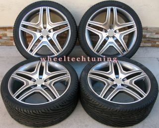 Benz Wheel and Tire Package Rims Fit MBZ GL450 and GL550 Silver
