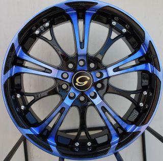 17x7 G Line G667 Wheels 5x100 114 3 Rim Tires ET40MM Fits Honda Civic