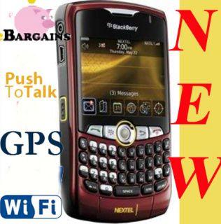 New Nextel Sprint Blackberry Curve 8350i PDA Phone Red
