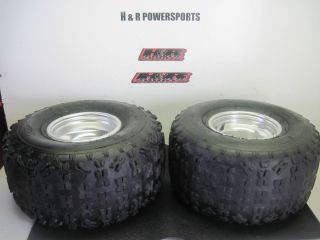2004 Yamaha YFZ 450 Rear Rims Tire Wheels Rim Set YZF450 04