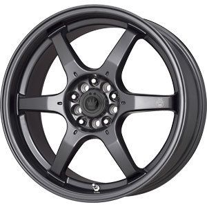 New 17x7 5 4x100 Konig Backbone Black Wheels Rims