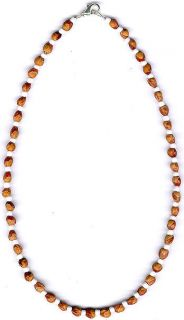 Mens Womens Ghost Bead Cedar Bead Necklace 61 Native American Jewelry