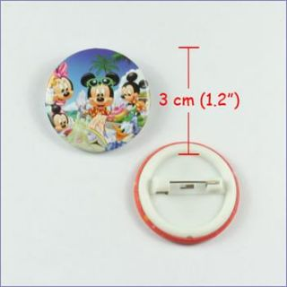 Mickey Minnie Buttons Pins Badges for Kids Birthday Party Favor Gifts