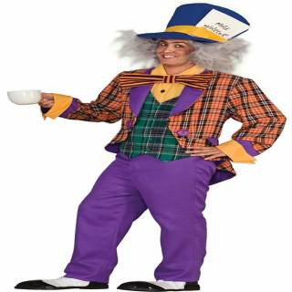 Alice in Wonderland Mad Hatter Costume Adult Standard