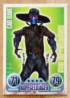 Force Attax Trading Card Game Serie 1 Cad Bane 167 Star Kopfgeldjaeger