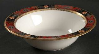 Noritake Silk Winds 9 Round Vegetable Bowl, Fine China Dinnerware   Black,Rust,