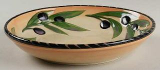 Clay Art Oliva Rustica 9 Individual Pasta Bowl, Fine China Dinnerware   Olives&