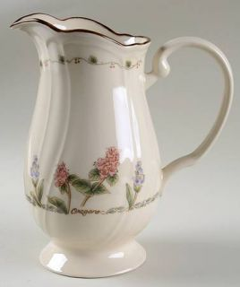 Epoch Spice Blossoms 48 Oz Pitcher, Fine China Dinnerware   Floral Rim, Spice Na