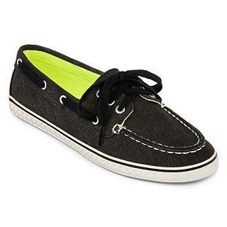 Arizona Skippy Boat Shoes, Black, Womens