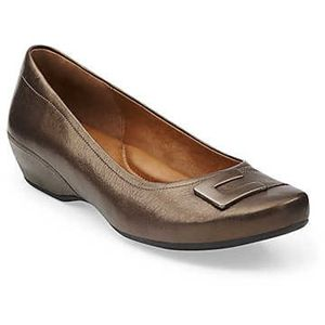 Clarks Womens Concert Choir Bronze Leather Shoes   31358
