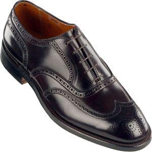 Alden Mens Wing Tip Bal Shell Cordovan Color 8 Shoes   974