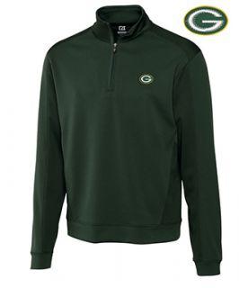Cutter & Buck Green Bay Packers Edge Half Zip Pullover
