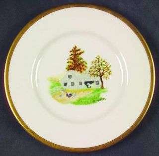 Shenango Grandma Moses Bread & Butter Plate, Fine China Dinnerware   Multimotif