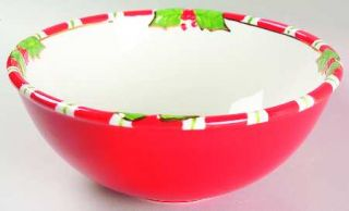 Christopher Radko Letters To Santa 9 Round Vegetable Bowl, Fine China Dinnerwar