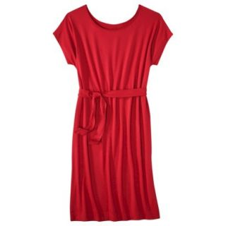Merona Womens Knit Belted Dress   Wowzer Red   XS