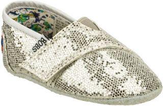 Infant/Toddler Girls Skechers Baby Bobs   Silver Vegetarian Shoes