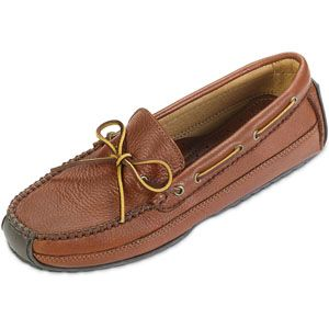 Minnetonka Mens Moosehide Weekend Moc Carmel Moose Shoes   758