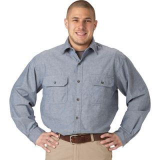 Key Long Sleeve Blue Chambray Shirt   3XL, Model# 507.45